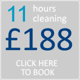 book 11 hrs cleaning for £161