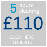 book 5 hrs cleaning for £83