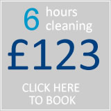 book 6 hrs cleaning for £96