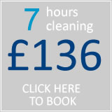 book 7 hrs cleaning for £109