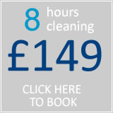 book 8hrs cleaning for £121