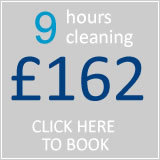 book 9 hrs cleaning for £135