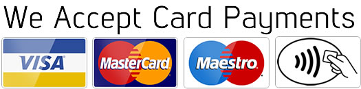 we accept credit and debit cards contactless payments